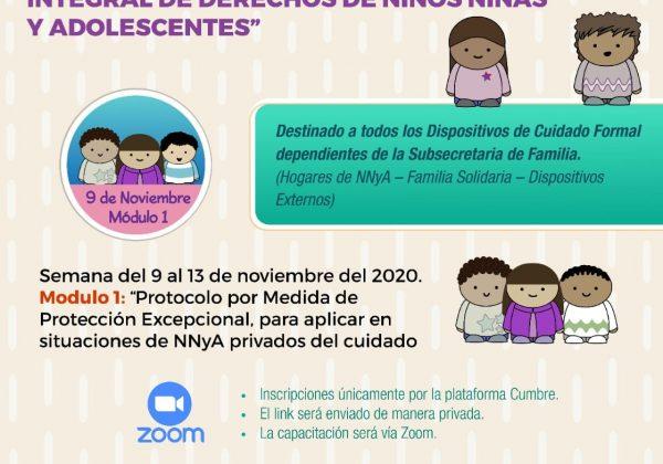 Capacitación sobre sistema de prevención y protección integral de derechos de niños, niñas y adolescentes
