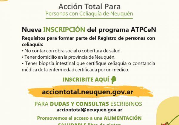 ATPCeN: nueva convocatoria para el registro de personas con celiaquía de la provincia